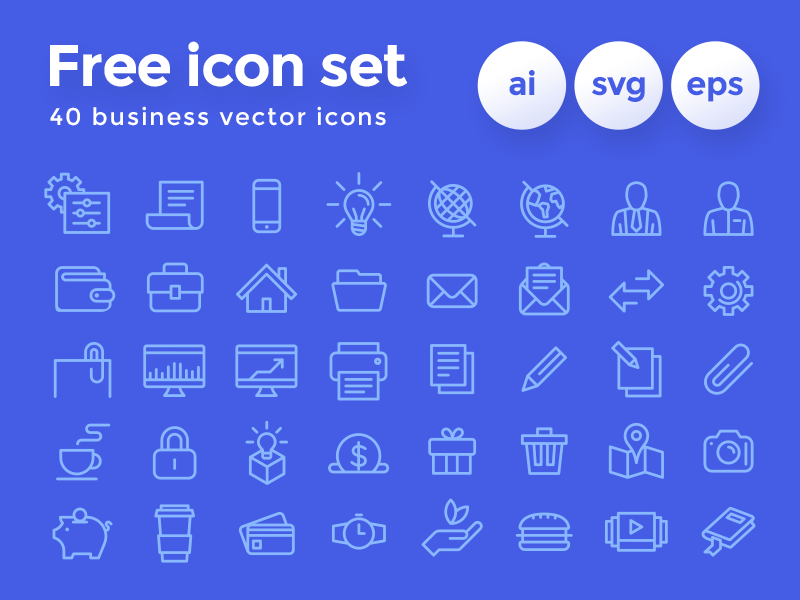 Business Icon Set [AI, SVG, EPS]