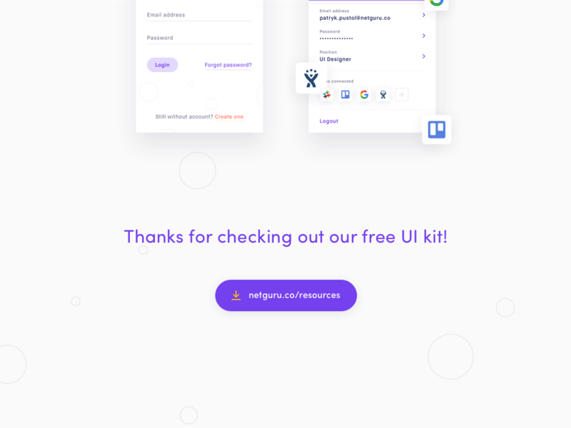 Planguru UI Kit Freebie