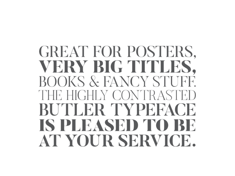 Butler - Free Font