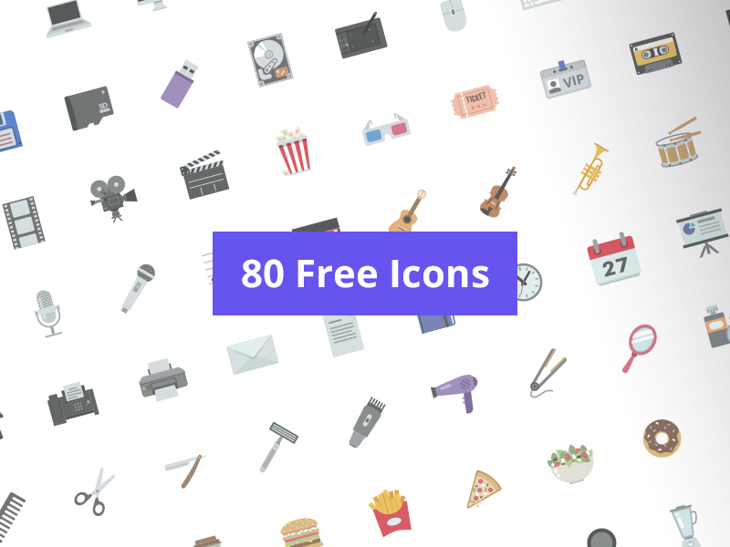 80 Free Icons preview picture