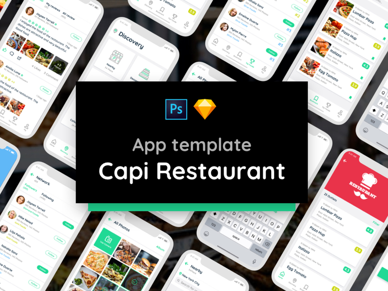 Capi Restaurant iOS UI Kit preview picture