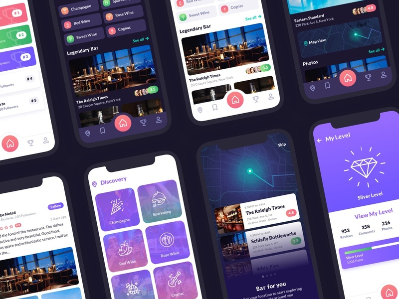 Cabar iOS UI Kit 120+ Screen - Restaurants, Bar and Coffee