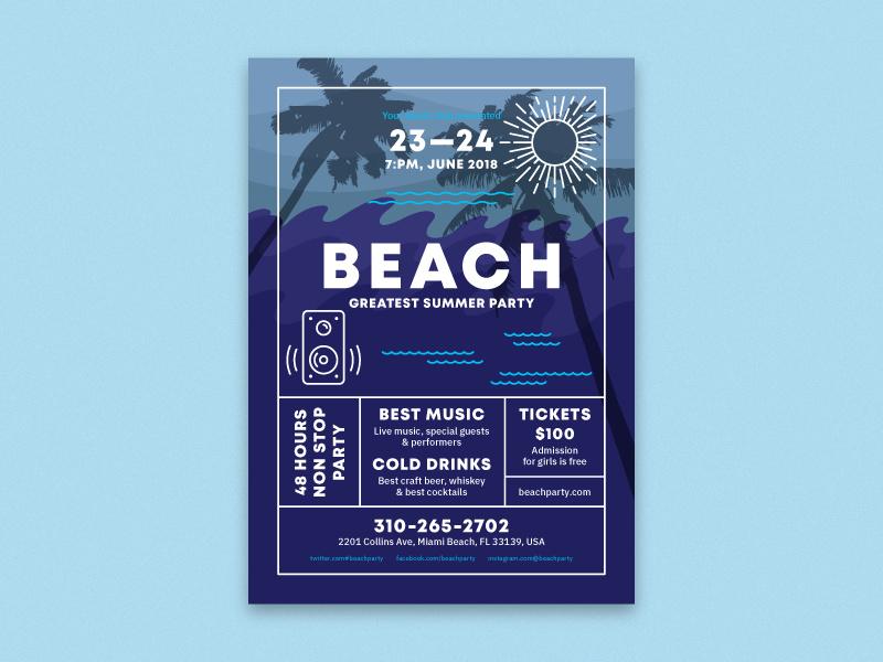Beach Poster Template