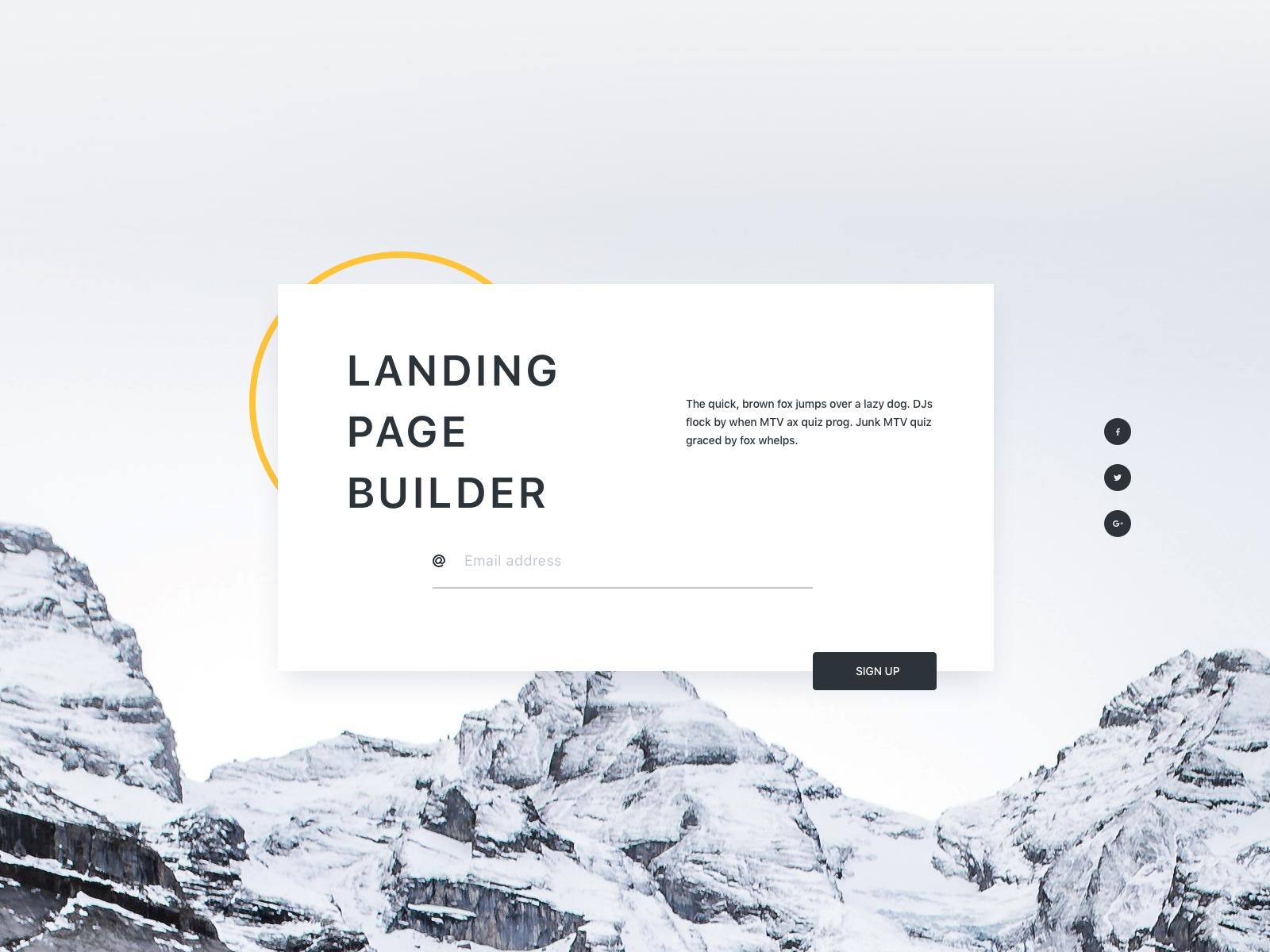 Landing Page Builder UI