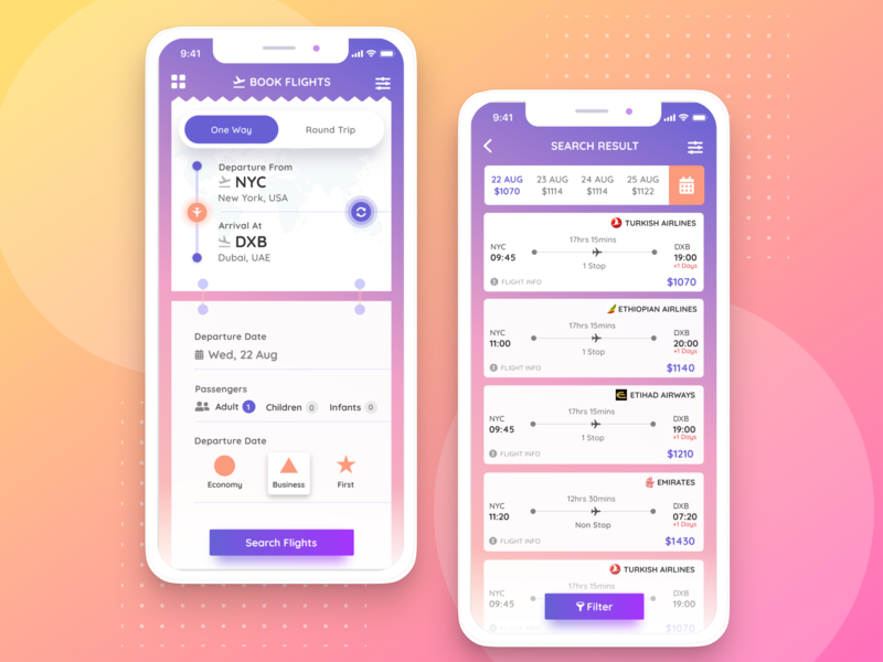 Flight Booking App Freebie preview picture