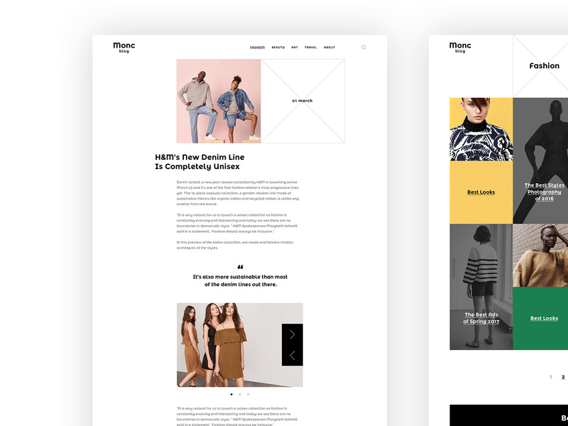 Monc Blog Template