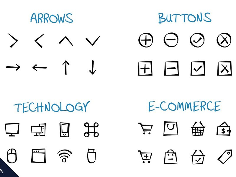 500+ Epic Hand Drawn Icons