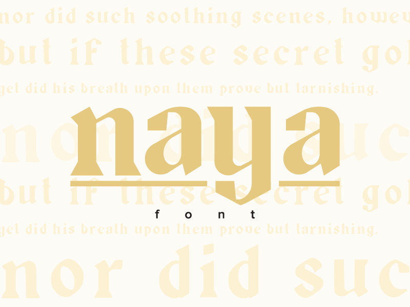Naya Font preview picture