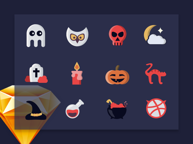 Halloween Icon Set preview picture