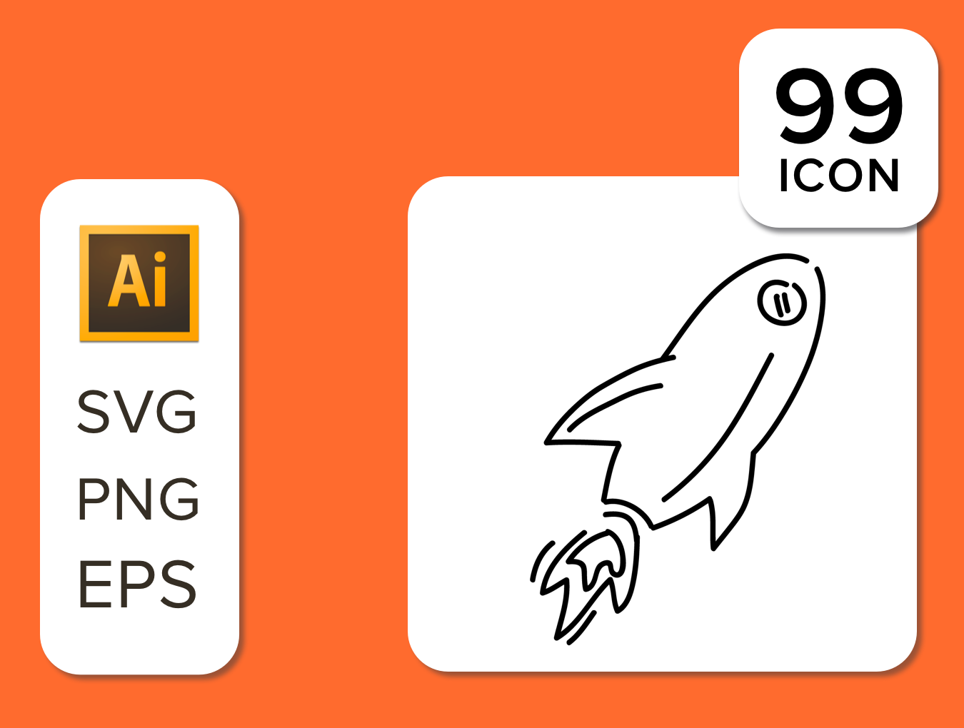 99 Line Drawing Icon Set