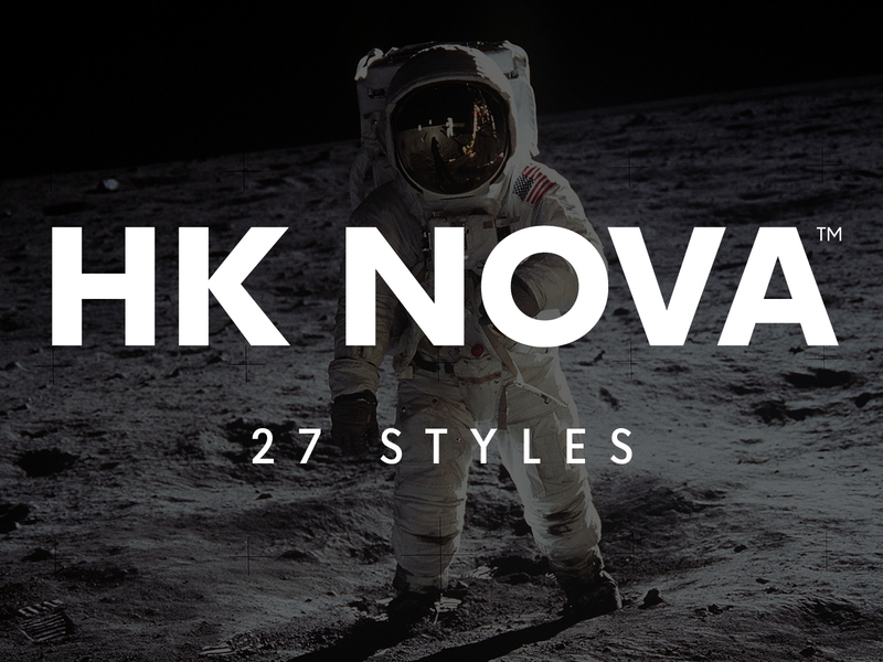 HK Nova Typeface preview picture