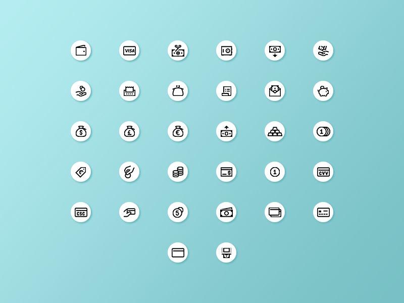 Finance icons [SVG, AI, PNG] preview picture