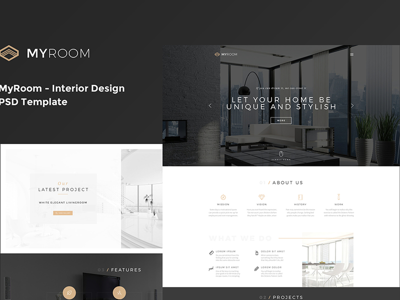 MyRoom - Interior Design PSD Template preview picture