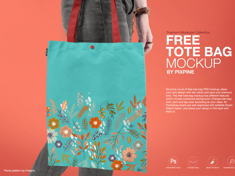 Free Tote Bag Mockup By Muhammad Mehdi Epicpxls