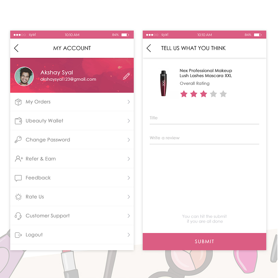 uBeauty UI Kit