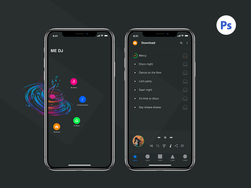 Iphone X Music Screens preview picture
