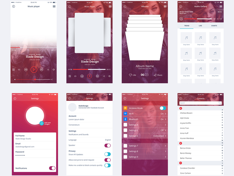 """The Scent"" IOS mobile UI kit"