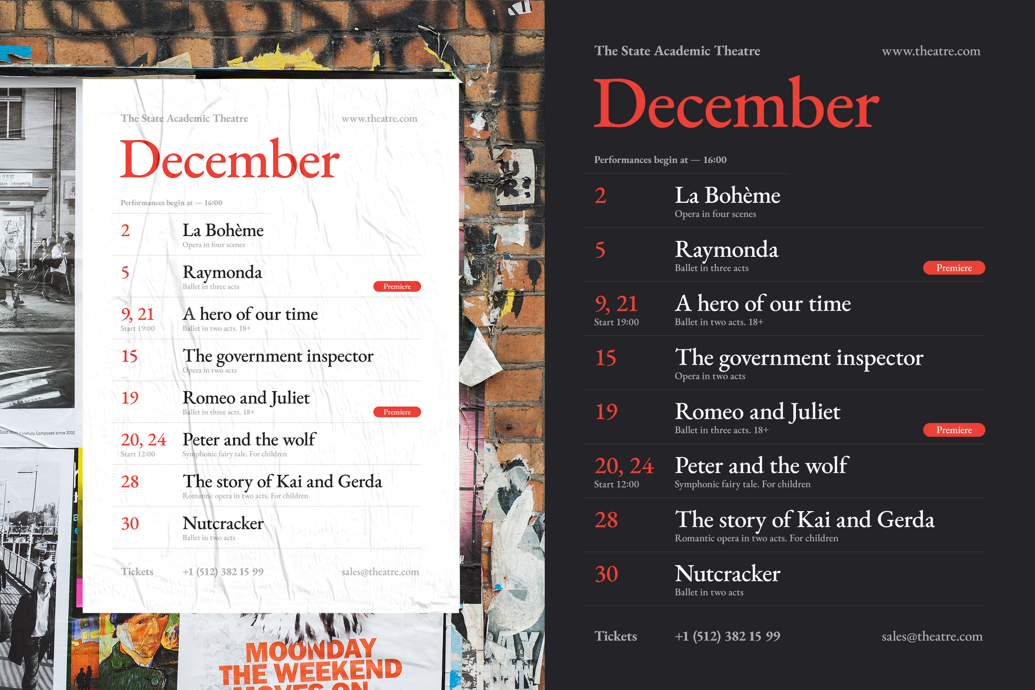 Theatre Schedule Poster #3