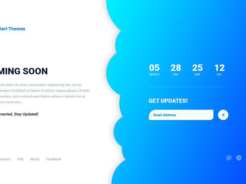 Dart Coming Soon – PSD Template preview picture
