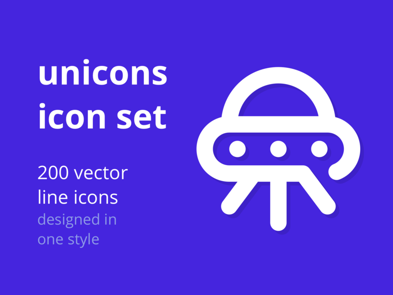 Unicons Icon Set!  200 Vector line icons. preview picture