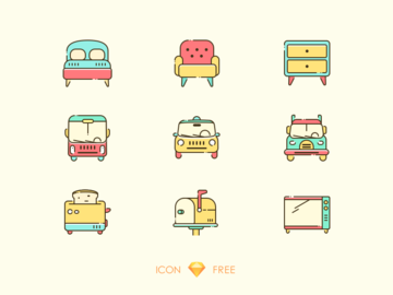 Sketch Icons - free pack