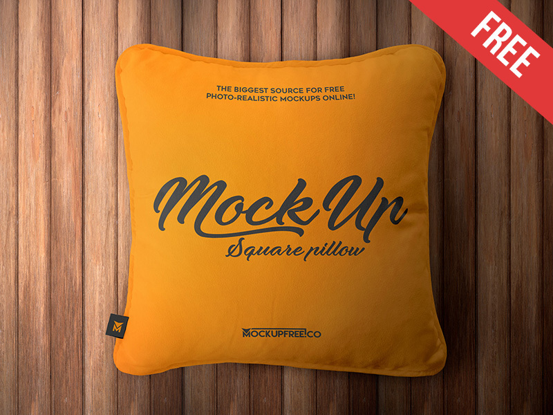 Square Pillow – 2 Free PSD Mockups preview picture