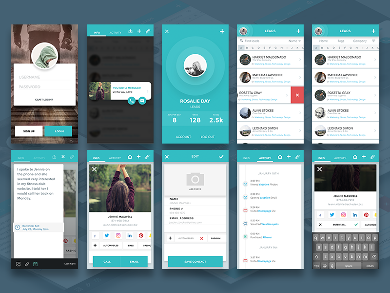 Social Leads App [Sketch] preview picture
