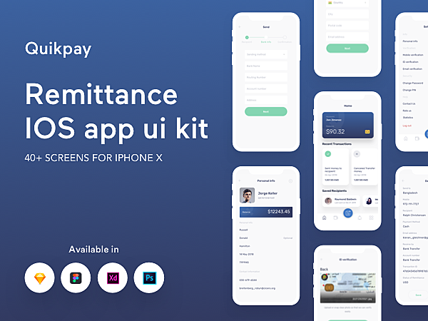 Quikpay Remittance IOS app ui kit