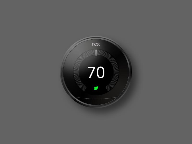 Nest Thermostat Sketch Render