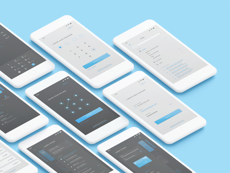 Mobile wallet UI kit