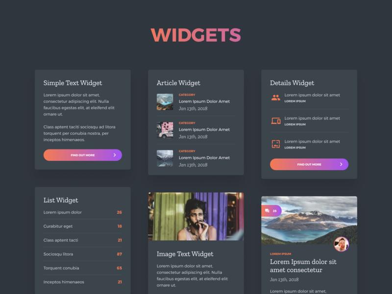 Grada - Free Figma UI Kit