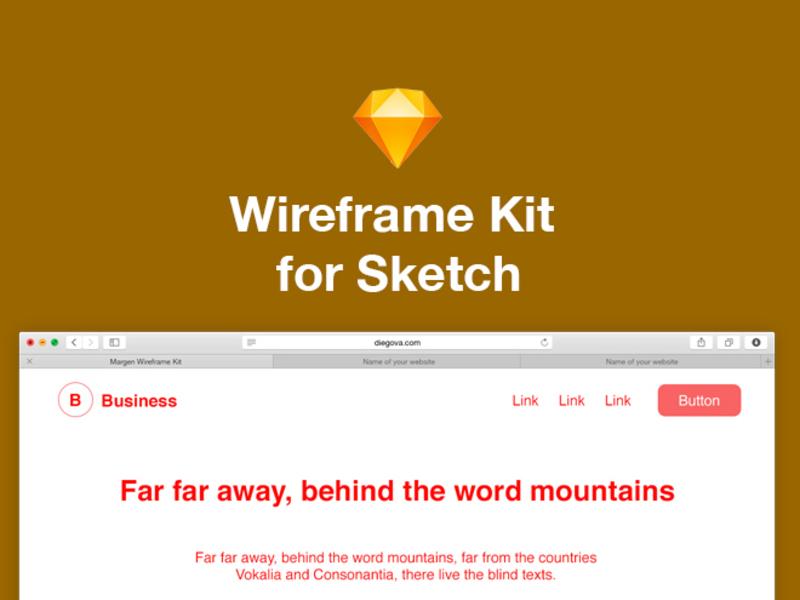 Margen Wireframe Kit for Sketch preview picture