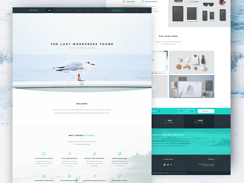 Octavia Landing Page [PSD] preview picture