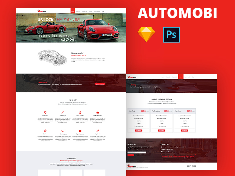 Automobi Web Template preview picture