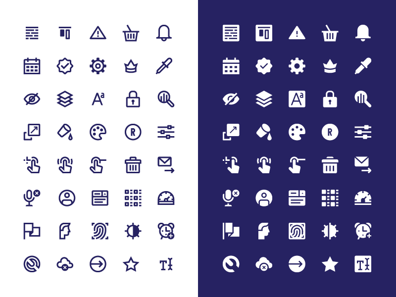 Interface icons set preview picture