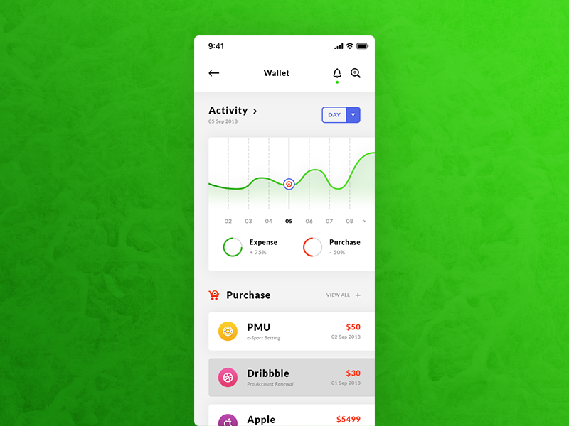 Finance, Wallet & Dashboard iOS App preview picture
