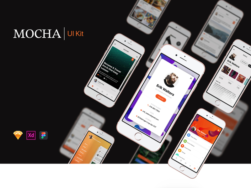 Mocha Mobile UI Kit preview picture
