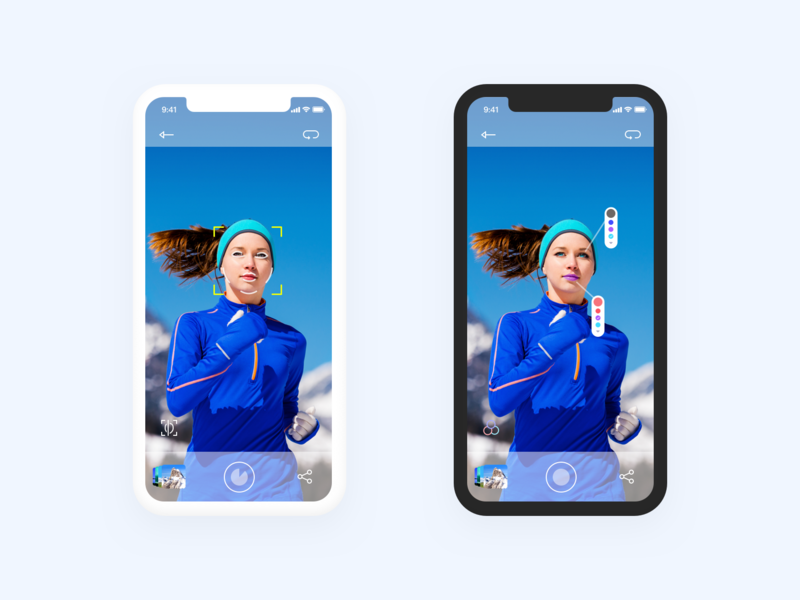 Face Recognition App UI preview picture