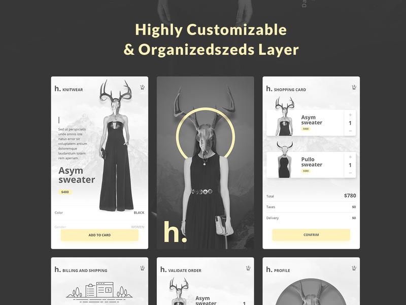 Hobi Fashion App Design