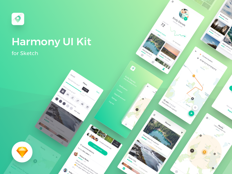 Harmony UI Kit for Sketch