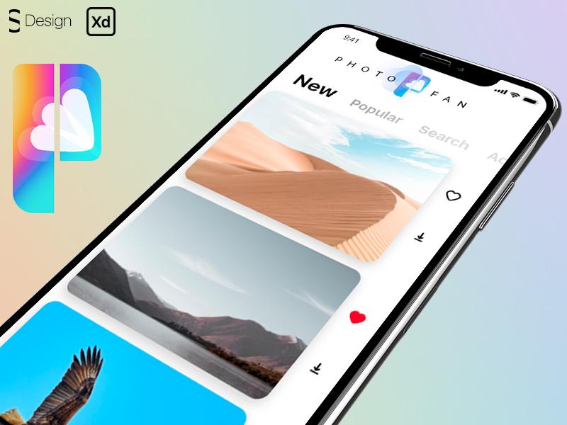 Photostock mobile app concept
