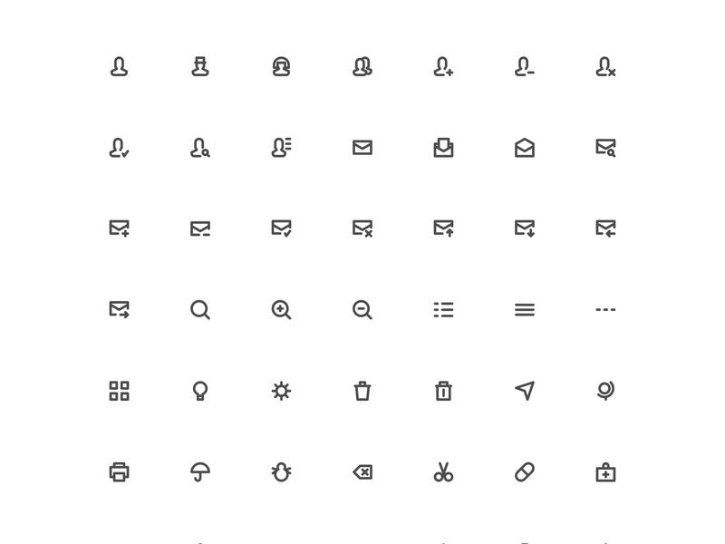 Chubby Icons Set