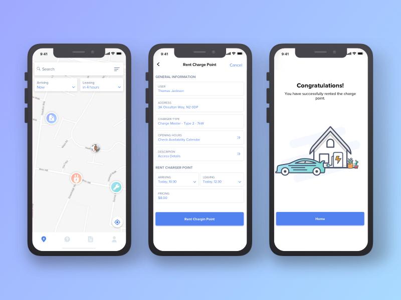 Car Services App UI Design