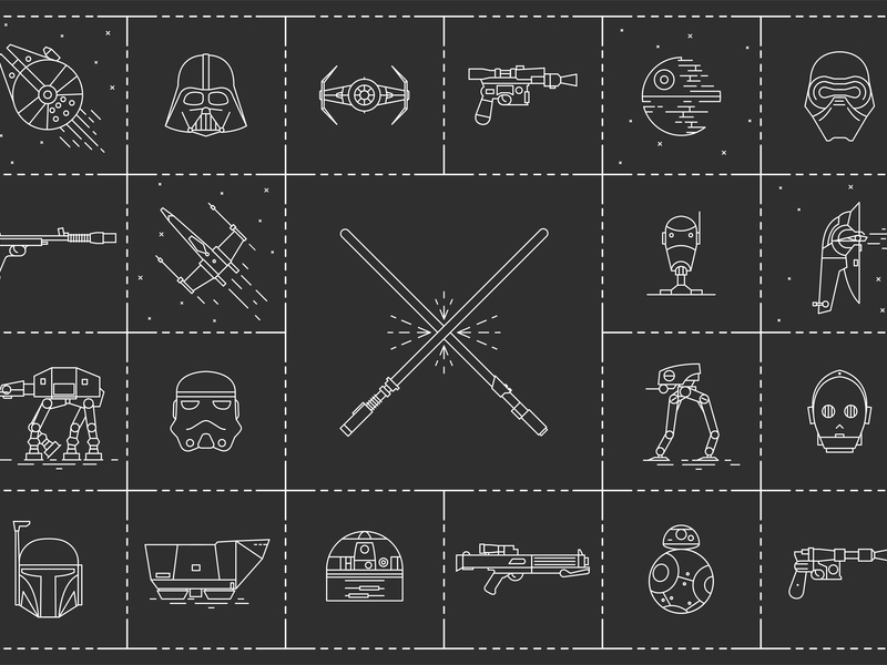 Star Wars free icons preview picture