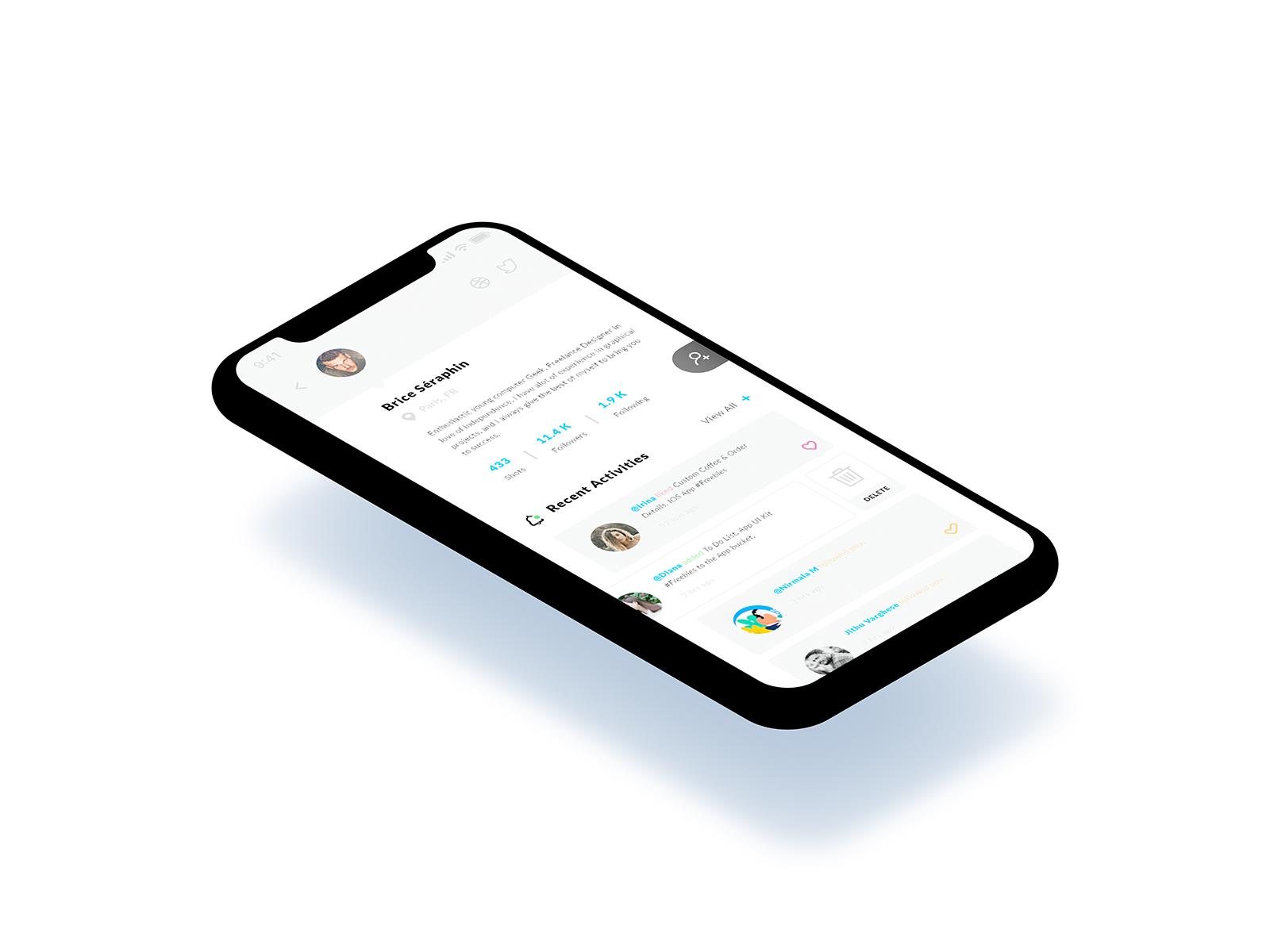 Recent Activities iOS App