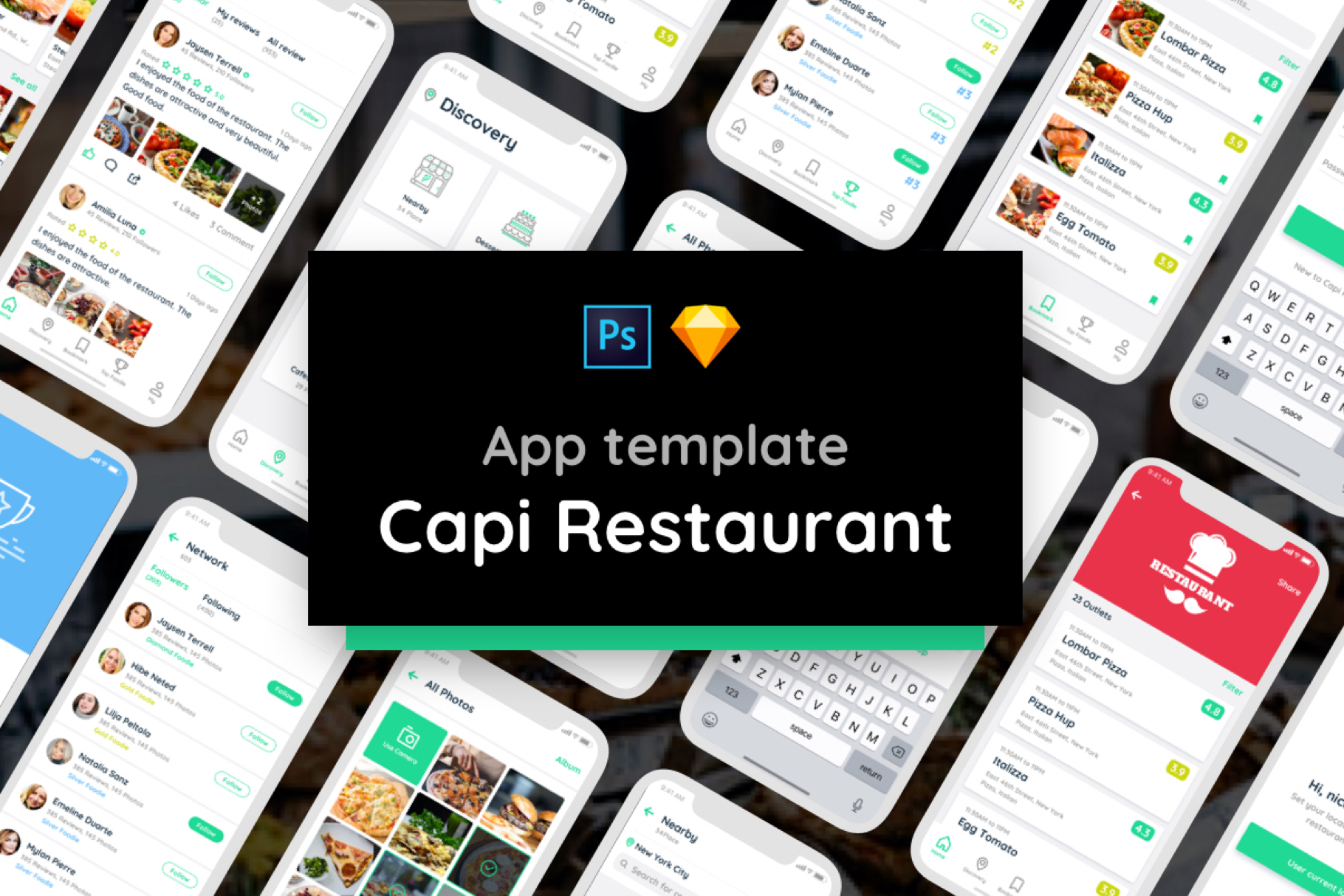 Capi Restaurant iOS UI Kit