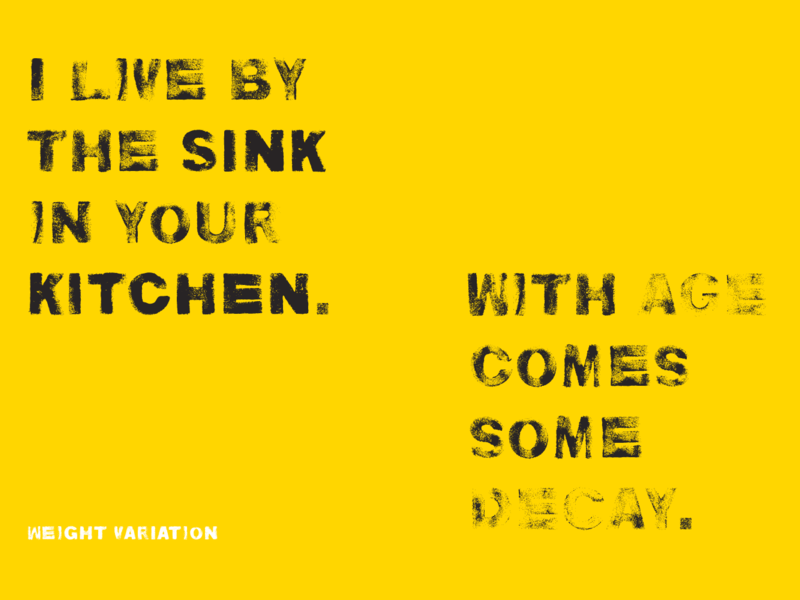 Kitchen Sink Typeface