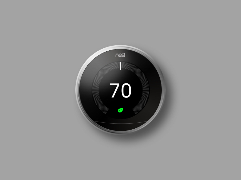Nest Thermostat Sketch Render preview picture