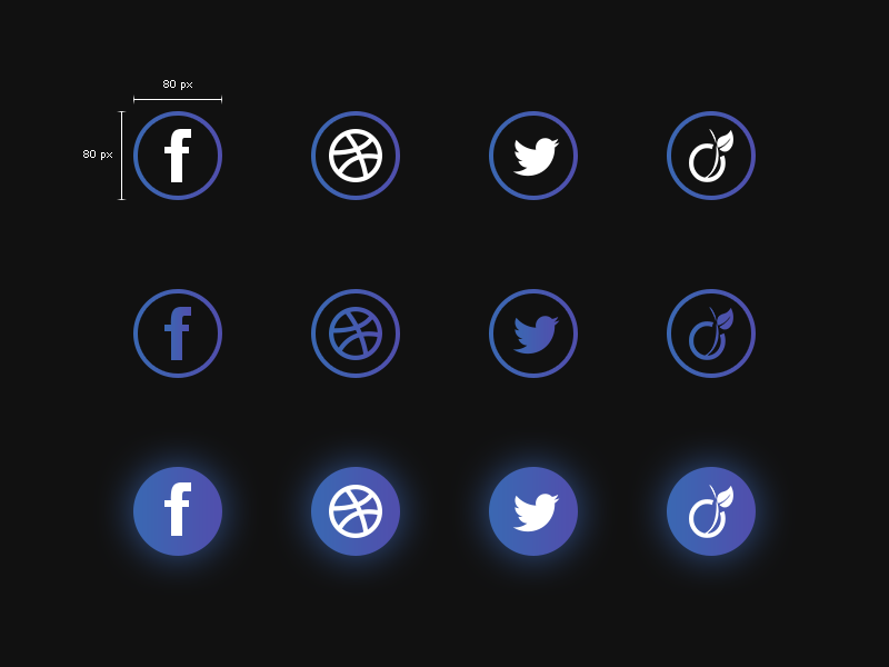 Social Media Icons Freebie preview picture