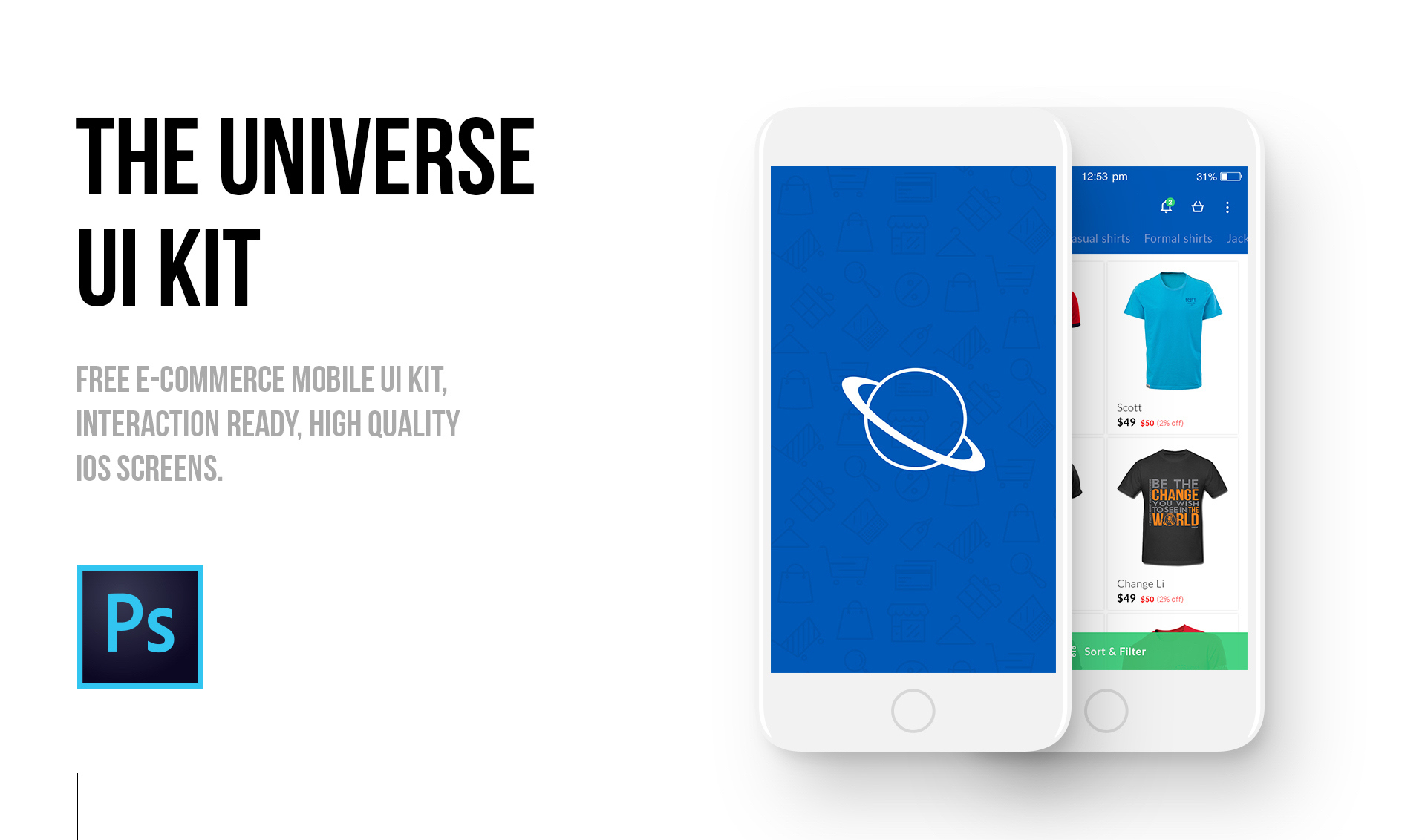 The universe e commerce mobile ui kit epicpxls for E commerce mobili